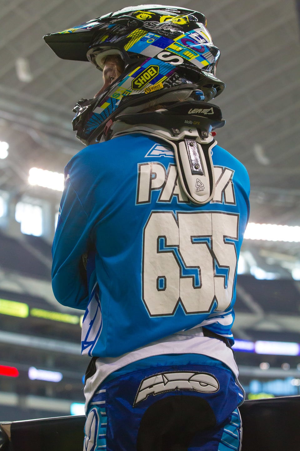. Jon Jon Pauk hails from Alberta and has been riding SX for a couple years now. He managed to just make the night show in Texas.